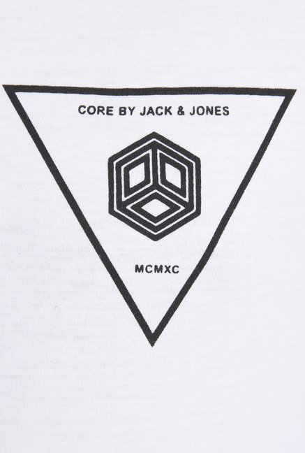 Jack & Jones White Printed T Shirt