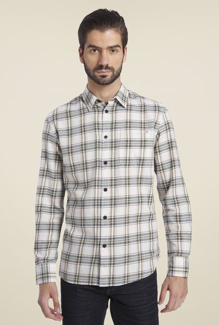 Jack & Jones White & Grey Checked Shirt