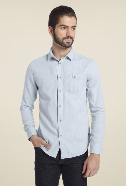 Jack & Jones Blue Solid Shirt