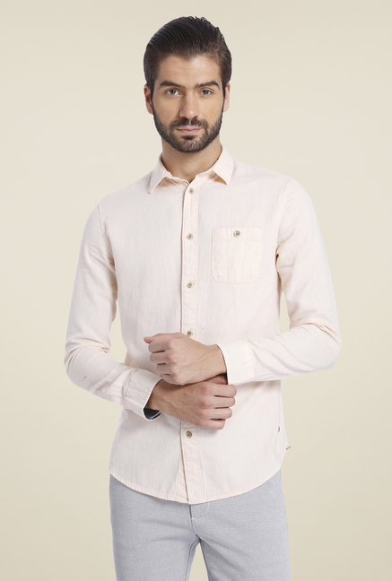 Jack & Jones Pink Solid Shirt