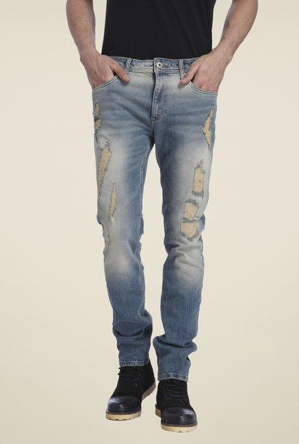 Jack & Jones Blue Ripped Jeans
