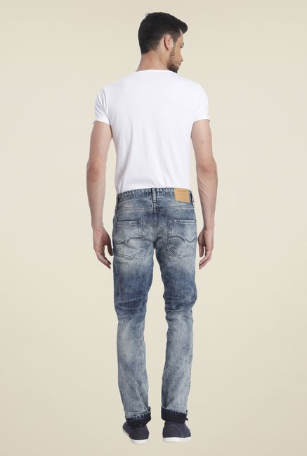 Jack & Jones Blue Acid Wash Jeans