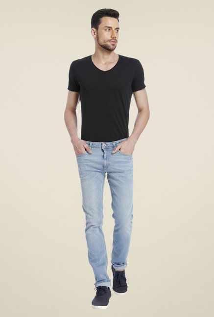 Jack & Jones Blue Solid Jeans