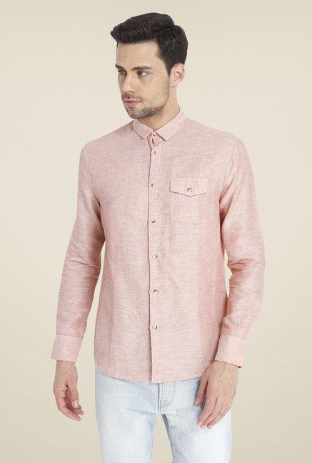 Buy Jack & Jones Pink Linen Shirt Online at best price at TataCLiQ