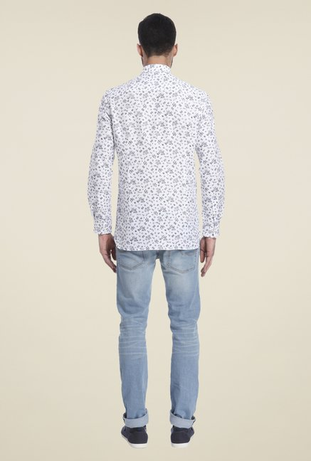 Jack & Jones White Printed Linen Shirt