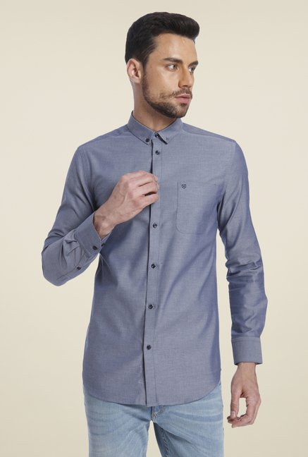 Jack & Jones Dark Grey Solid Shirt