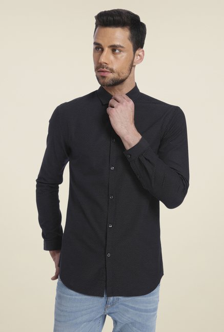 Jack & Jones Black Printed Shirt