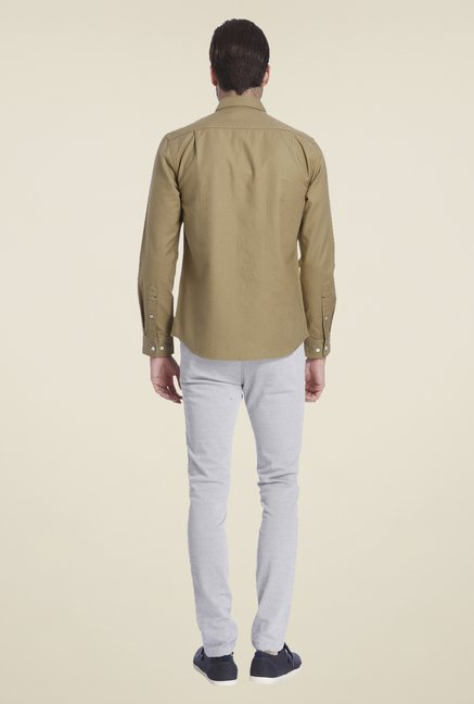 Jack & Jones Khaki Self Print Shirt