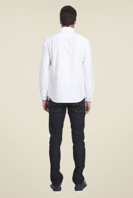 Jack & Jones White Self Print Shirt