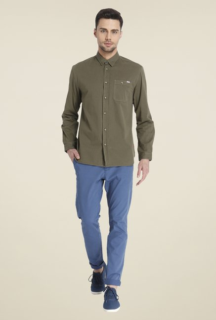 Jack & Jones Olive Solid Shirt
