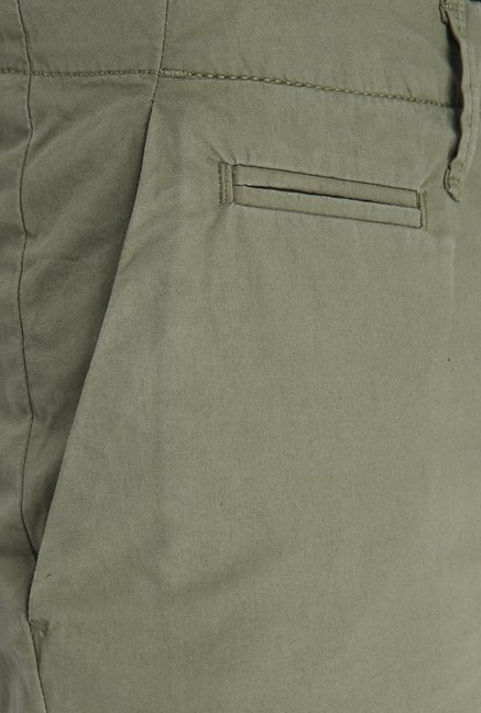 Jack & Jones Olive Cotton Shorts
