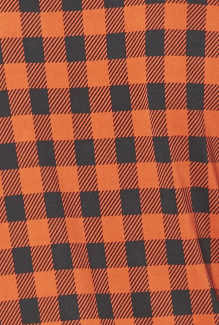 Globus Orange Checks Top