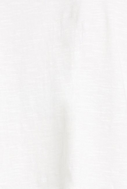 Globus White Solid Short Sleeve Crop Top