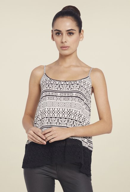 Globus Black Printed Top