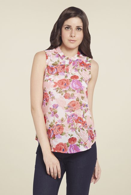 Globus White Sleeveless Top