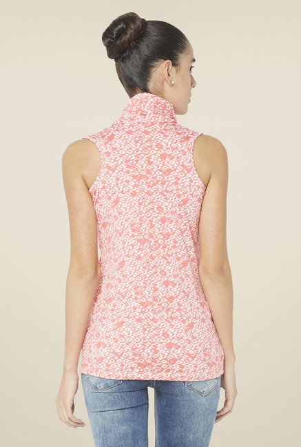 Globus Coral Printed Sleeveless Top