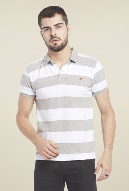 Globus Grey Striped Polo T Shirt