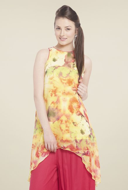 Globus Yellow Printed Tunic