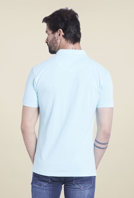 Globus Aqua Solid Polo T Shirt