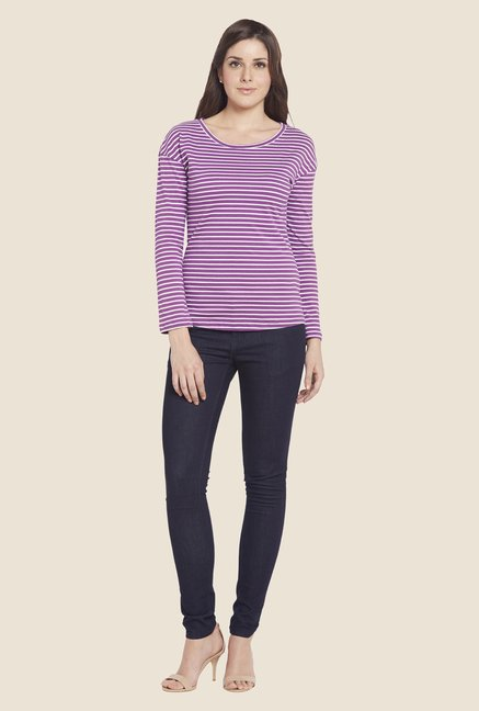 Globus Purple Striped Top