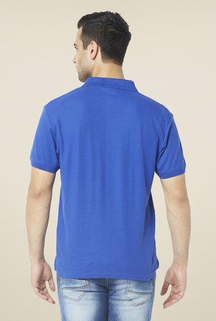 Globus Blue Solid Polo T Shirt