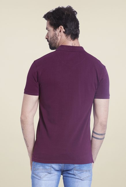 Globus Purple Solid Polo T Shirt
