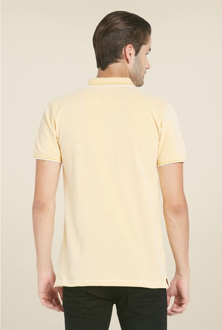 Globus Beige Solid Polo T Shirt