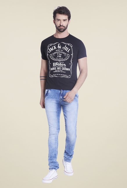 Globus Black Printed T Shirt