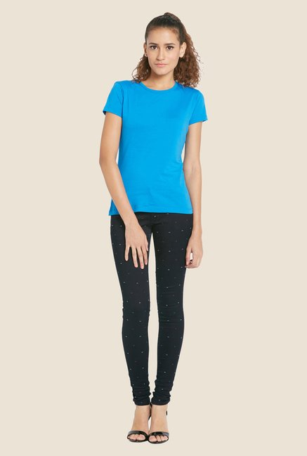 Globus Blue Solid T-shirt