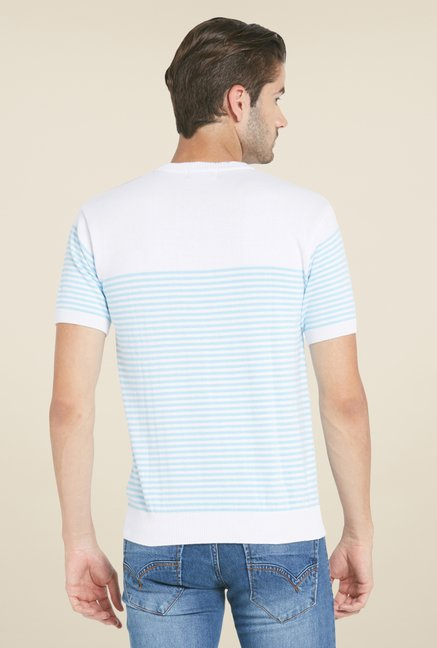 Globus White Striped T Shirt