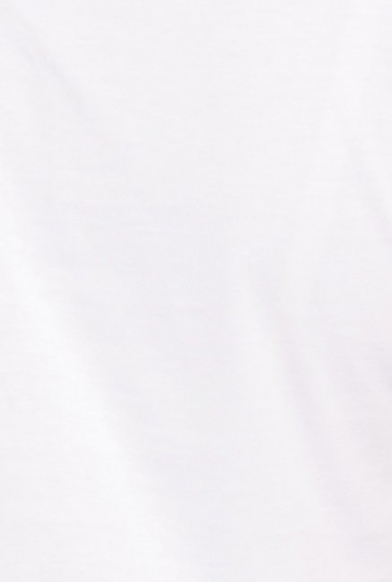 Globus White Solid Short Sleeve Top