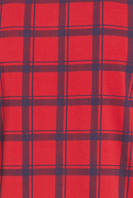 Globus Red Checks Polo T Shirt