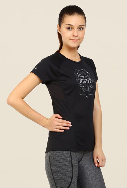 Puma Black Graphic Print Sports T Shirt