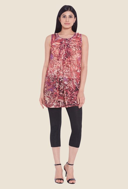Globus Pink Abstract Print Top
