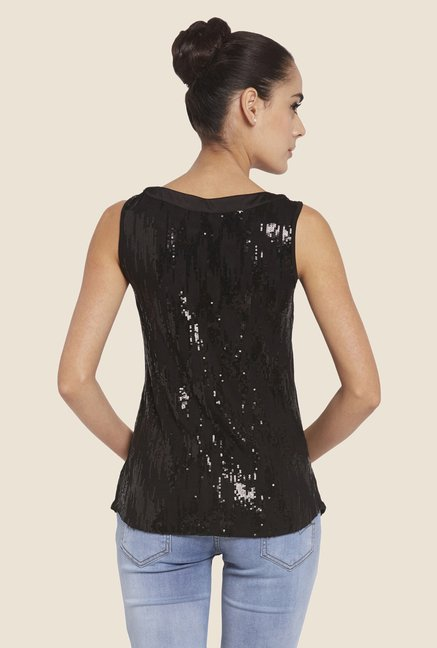 Globus Black Embellished Top