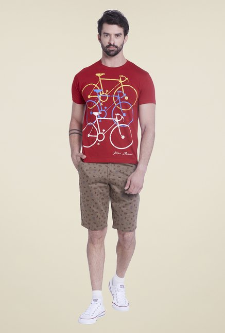 Globus Red Printed T Shirt