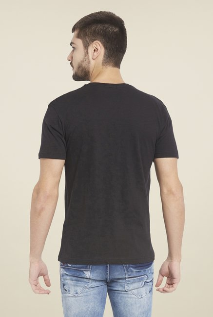 Globus Black Graphic Print T Shirt
