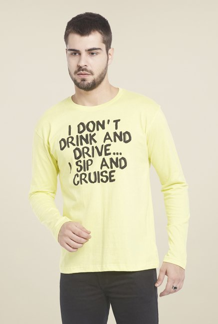 Globus Yellow Printed T Shirt