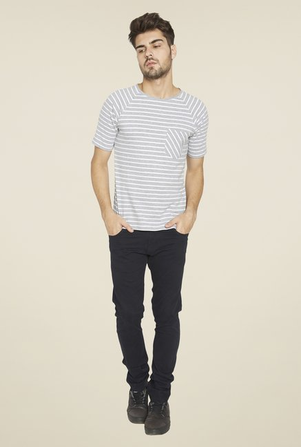 Globus Grey Striped T Shirt