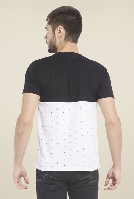 Globus Black & White Printed T Shirt