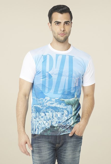 Globus Blue Graphic Print T Shirt
