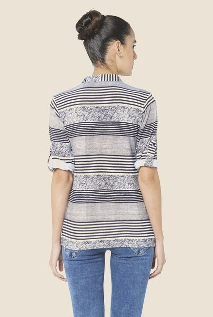 Globus Grey Striped Top