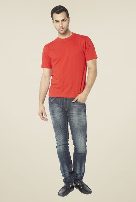 Globus Red Solid T Shirt