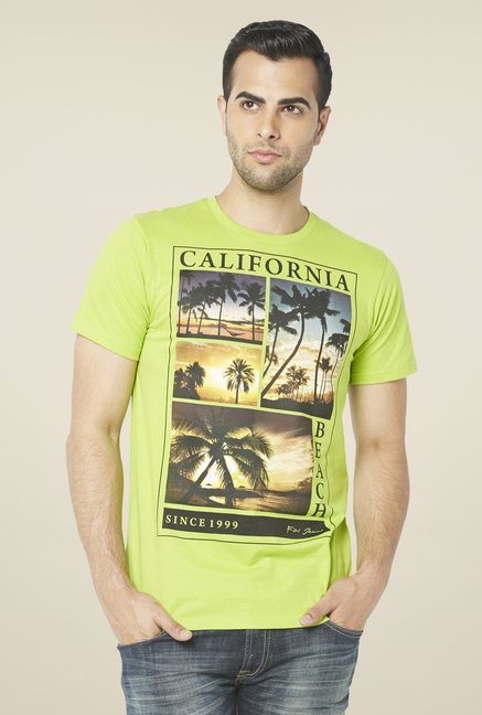 Globus Lime Graphic Print T Shirt