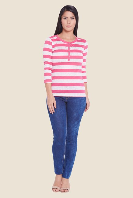Globus Pink Striped Top