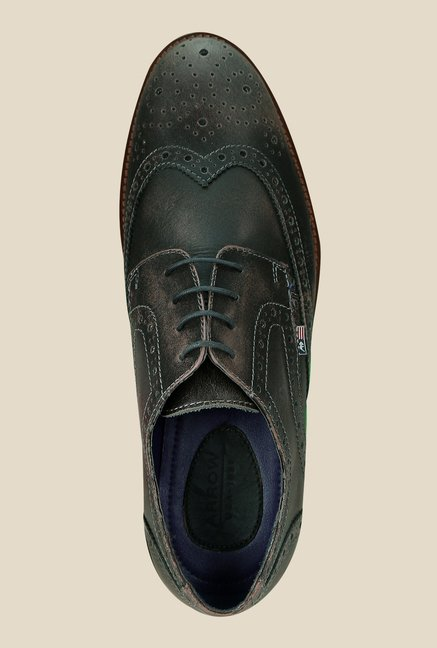 Arrow Brown Leather Brogue Shoes