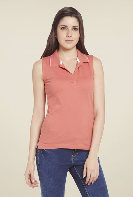 Globus Coral Solid Polo T Shirt