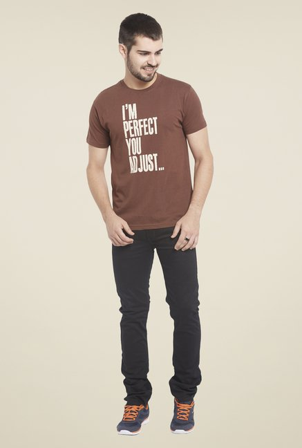 Globus Brown Printed T Shirt
