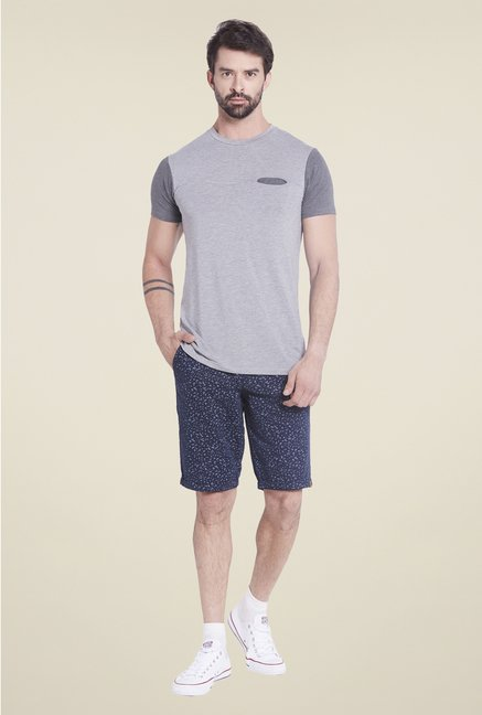 Globus Grey Solid T Shirt