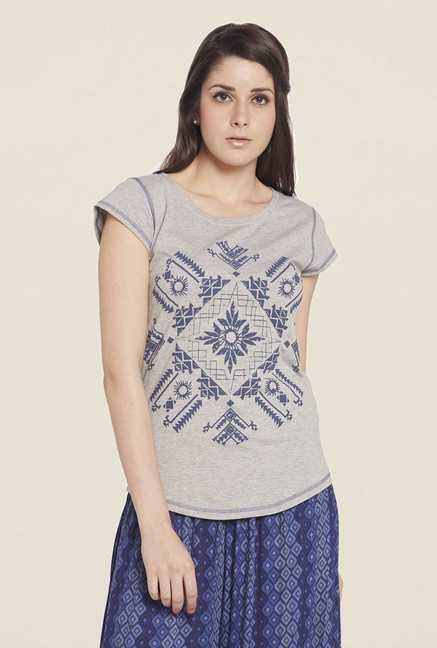 Globus Grey Cotton Top